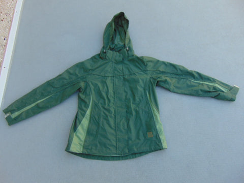 Rain Coat Ladies Size Large Wind River Green Excellent