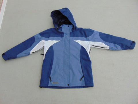Rain Coat Ladies Size Small Viking Creekside Blue White Waterproof