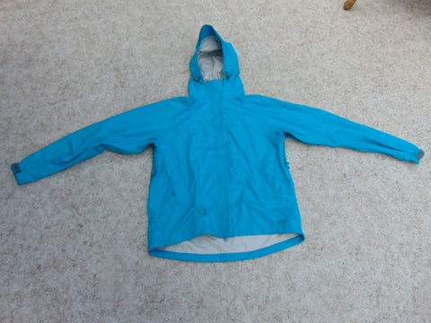 Rain Coat Ladies Size X Large MEC Waterproof Teal Blue New Demo Model