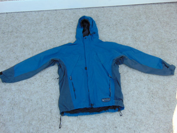 Rain Coat Men's Size Medium Wetskins Denim Blue Grey Waterproof
