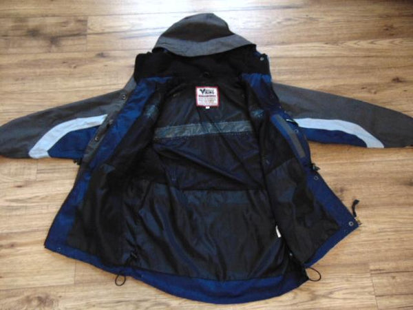 Rain Coat Men's Size Small Viking Waterproof Grey Blue Black
