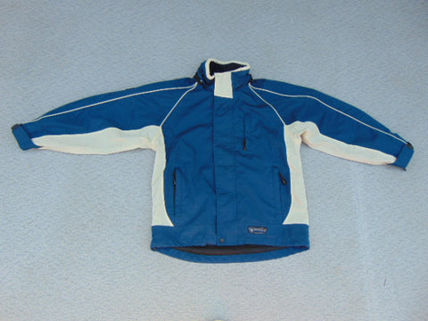 Rain Coat Child Size 8 - 10 Wetskins Blue No Hood