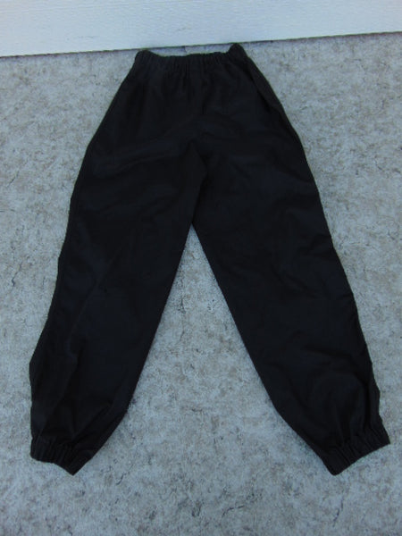 Rain Pants Child Size 10 MEC Black Waterproof Excellent