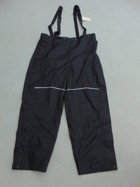 Rain Pants Men's Size Medium Viking Black With Full Zippers Up Sides Waterproof Great Motorcycles and Bikes
