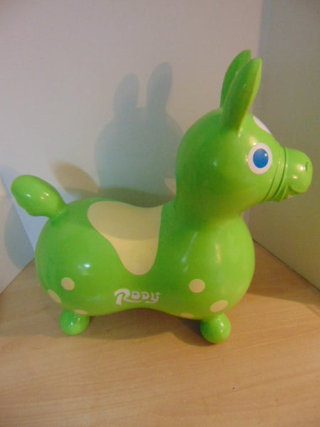 Rody Horse Hop and Ride Rubber Lime Age 2-5 Excellent