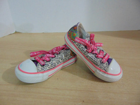 Runners Child Size 5 Infant Baby Converse All Star Pink Multi Canvas.