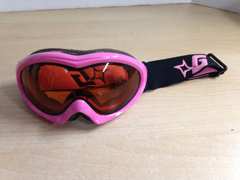 Ski Goggles Adult Size Gordini Pink Black With Orange Lense Excellent
