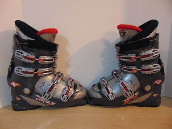 Ski Boots Mondo Size 25.5 Men's Size 7.5 Ladies Size 8.5 295 mm Nordica FTX Grey Red Excellent