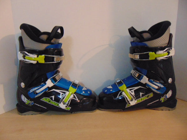 Ski Boots Mondo Size 25.0 Men's Size 7 Ladies Size 8 290 mm Nordica FireArrow Blue Lime Black New Demo Model