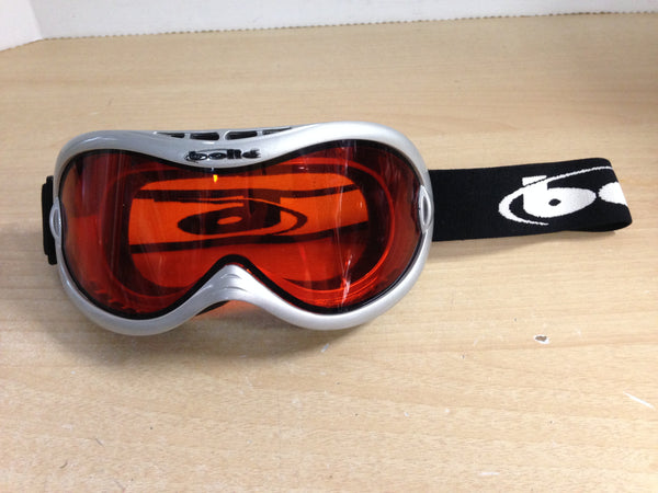 Ski Goggles Adult Size Bolle Grey With Orange Lense New Demo Model