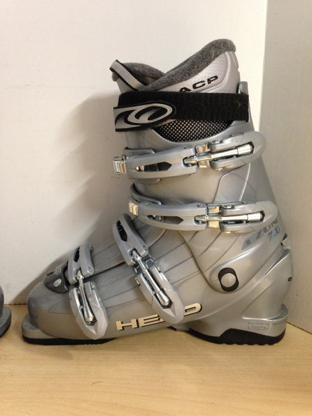 Ski Boots Mondo Size 26.5 Men's Size 8 Ladies Size 9 308 mm Head Grey Excellent As New