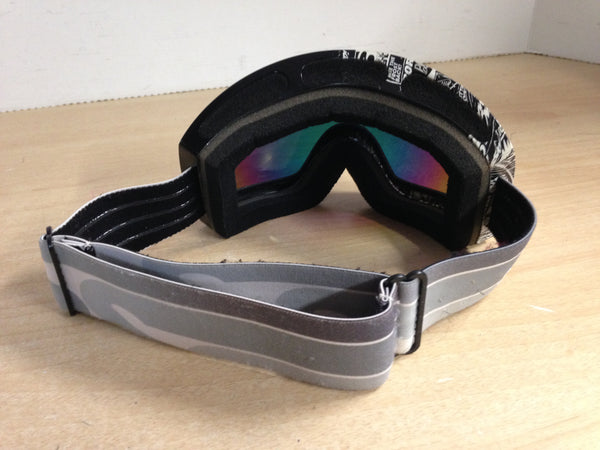 Ski Goggles Adult Size Sims Grey Black With Mirrored Lense Excellent