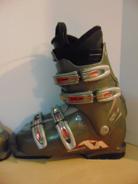 Ski Boots Mondo Size 26.5 Men's Size 8.5 Ladies Size 9.5 305 mm Nordica Easy Move Sage Grey