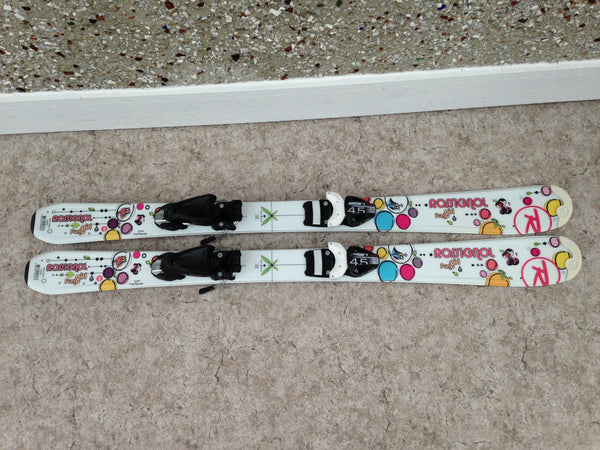 Ski 110 Rossignol Fun Girl White Multi Excellent Parabolic  With Bindings
