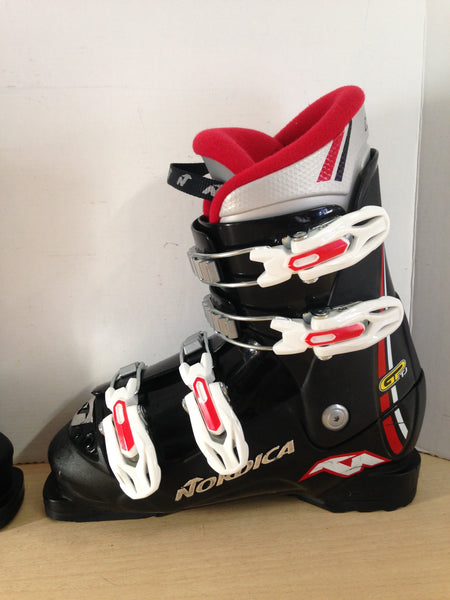 Ski Boots Mondo Size 22.5 Child Size 4-5 260 mm Nordica Black White Red Excellent