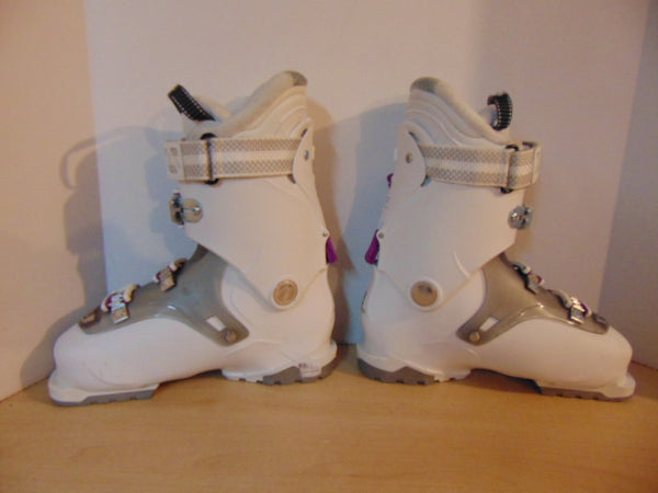 Ski Boots Mondo Size 25.0 Ladies size 8  298 mm Salomon QST White Purple New Demo
