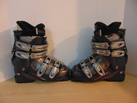 Ski Boots Mondo Size 24.5 Men's Size 6 Ladies Size 7 285 mm Nordica F5.7 Grey Red