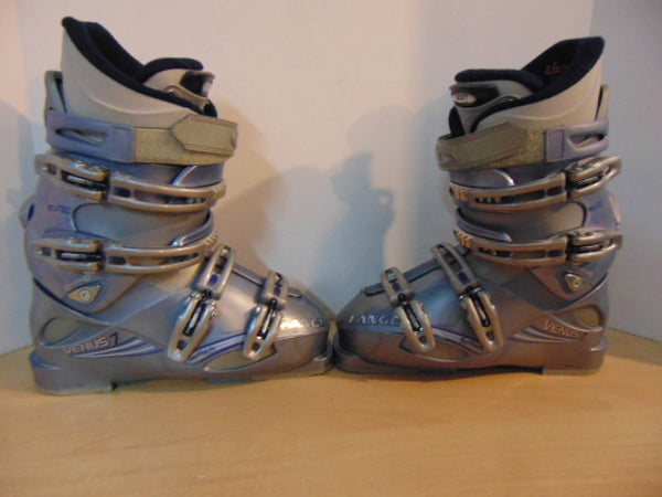 Ski Boots Mondo Size 24.5 Ladies Size 8.5 288 mm Lang Softec Pearl Purple Excellent