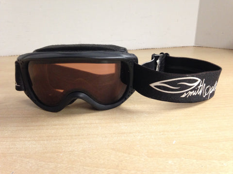 Ski Goggles Child Size 6-8 Smith Optics Black White With Orange Lense