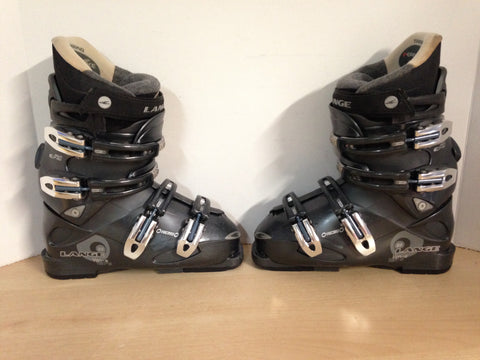 Ski Boots Mondo Size 23.0 Ladies Size 6.5 278 mm Lange Dk Grey Minor Wear