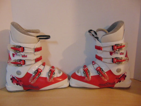 Ski Boots Mondo Size 24.0 Ladies Size 7 283 mm Rossignol Raspberry White