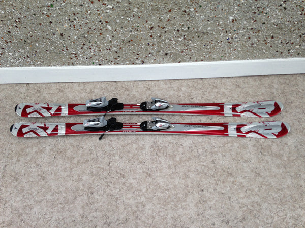 Ski 163 k-2 Apache Parabolic Great For Down Hill and Back Country Red and Grey Twin Tipped With Bindings