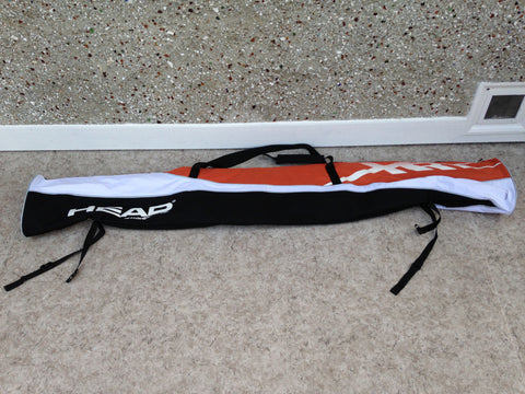 Ski Bag Adult Size  Head Fits Up To 180 cm Black Grey Orange Excellent