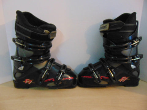 Ski Boots Mondo Size 24.5 Ladies Size 7 288 mm Lang Softech Black Pink