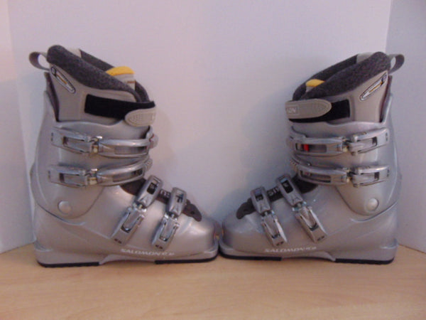 Ski Boots Mondo Size 25.5 Ladies Size 8 295 mm Salomon Sensi Fit Grey Excellent