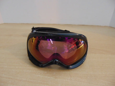 Ski Goggles Adult Size Roxy Purple  Black With Mirrored Lenses As New