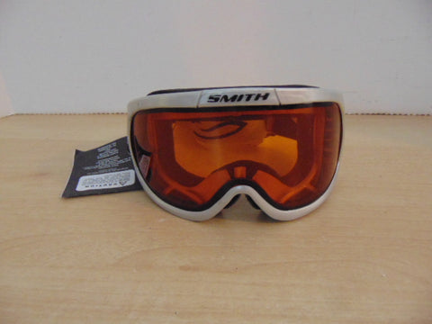 Ski Goggles Adult Size Small Smith Black Grey Orange Lenses New With Tags