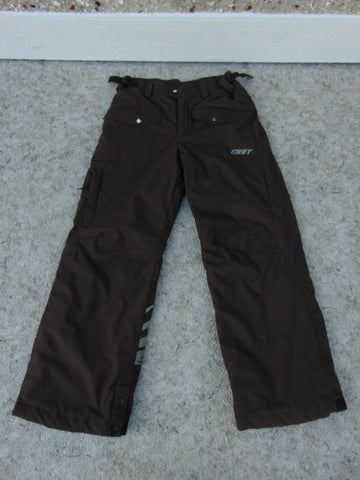 Snow Pants Child Size 10-12 Columbia Brown Black New Demo Model