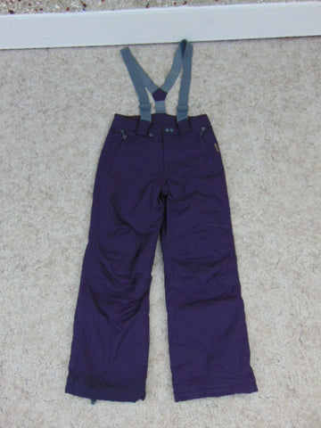 Snow Pants Child Size 12 Mole Purple and Grey With Removeable Suspenders Snowboarding New Demo Model