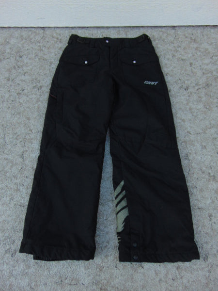 Snow Pants Child Size 10-12 Columbia Black Snowboarding Excellent
