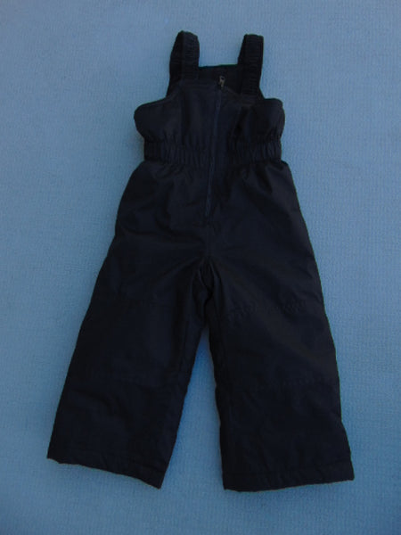 Snow Pants Child Size 2 Black Micro Fleece Lined With Bib New Demo Model