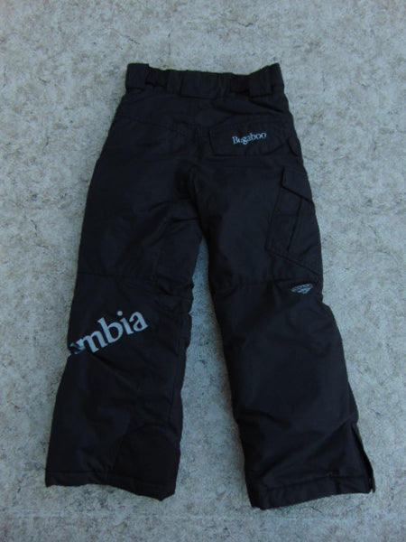 Snow Pants Child Size 6-7 Columbia Bugaboo Black Snowboarding New Demo Model