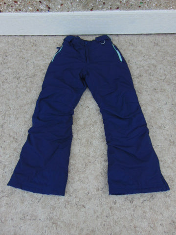 Snow Pants Child Size 10 Lands End Marine and Aqua Blue Snowboarding New Demo Model