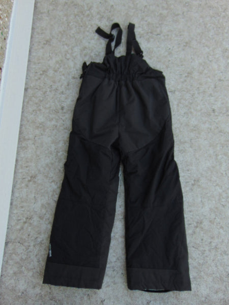 Snow Pants Child Size 7 Helly Hansen With Bib Black Snowboarding Excellent As New