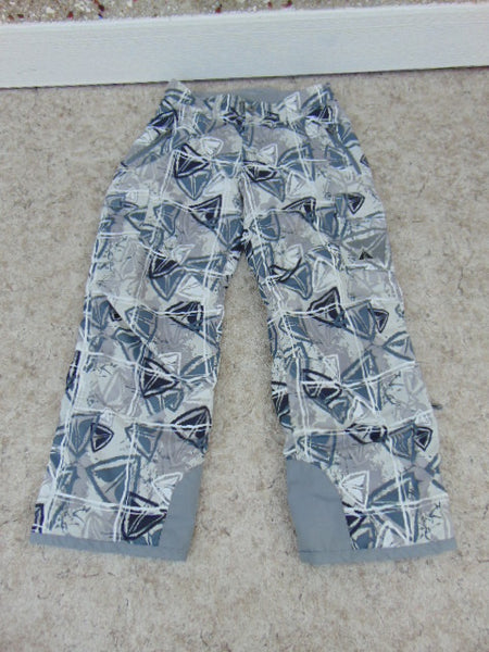 Snow Pants Child Size 14 Youth Firefly  Grey Multi Snowboarding New Demo Model