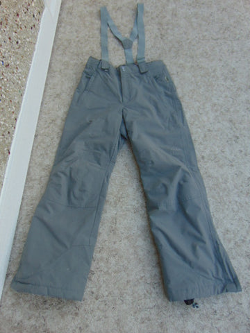 Snow Pants Ladies Size Medium Mole Grey With Removable Straps Snowboarding