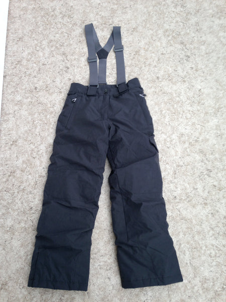 Snow Pants Child Size 12 Firefly With Removeable Straps Black Snowboarding New Demo Model