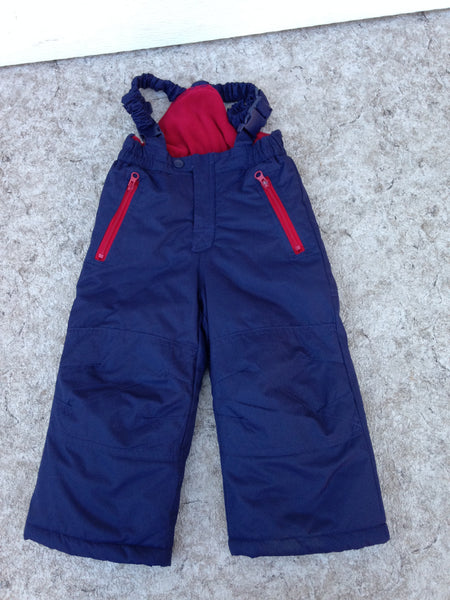 Snow Pants Child Size 2 West Bound Marine Blue With Red Micro Fleece Lining Inside New Demo Model