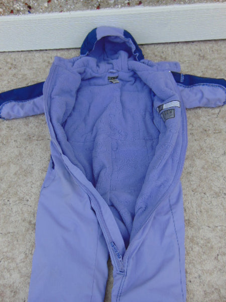 Snowsuit Child Size 4 REI Snow Gear 1 pc Purple Fleece Lined Made For The Cold and Snow