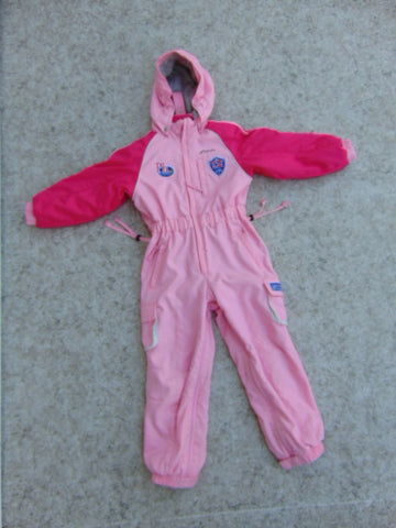 Snowsuit Child Size 6-7 Phenix Fushia Pink Made In Europe 1 pc Excellent