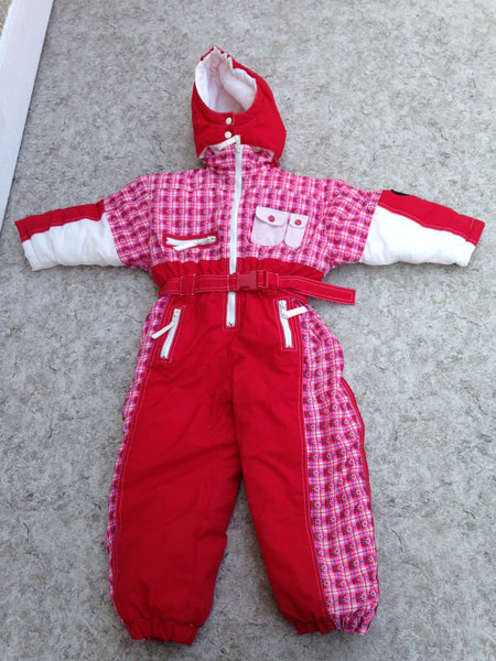 Snowsuit Child Size 3X Pink White 1 pc