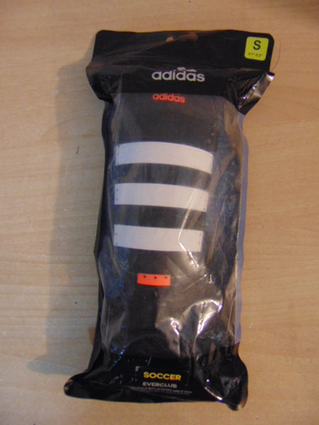 Soccer Shin Pad Child Size Small 4-6 Adidas Black Orange New