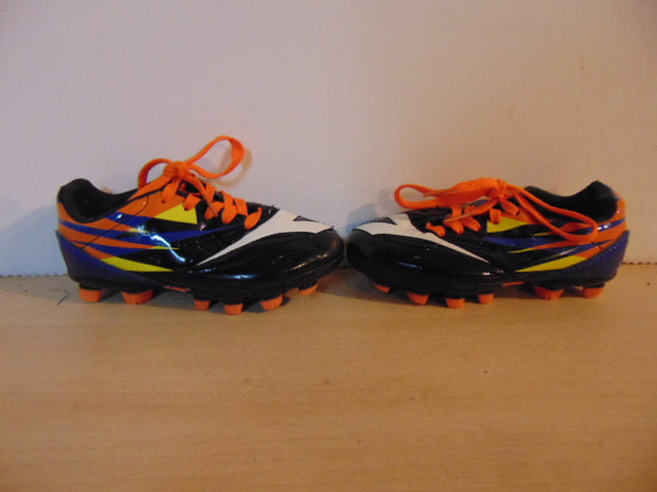 Soccer Shoes Cleats Child Size 10 Toddler Diadora Black Orange White As New