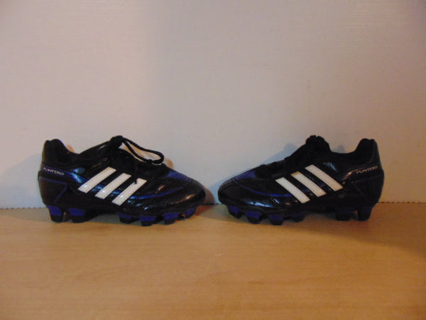 Soccer Shoes Cleats Child Size 10 Toddler Adidas Puntero Blue Black White  As New