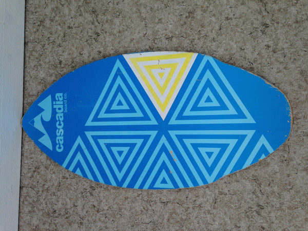 Surf Skim Board Cascadia Boards Blue Wood Fantastic Quality 40 x 20 inch Minor Wear