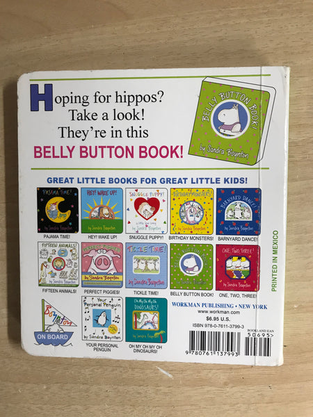 Sandra Boynton Belly Button Book Toddler Board Book